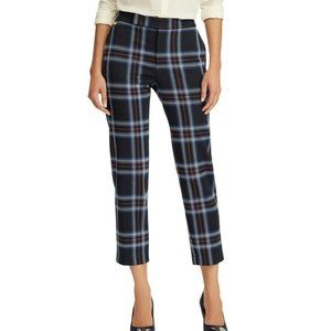 Ralph Lauren XL Navy Plaid Stretch Pants NWT CU88